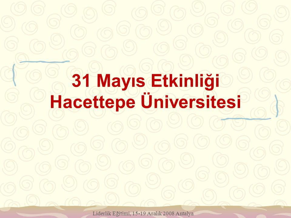31 Mayıs Etkinliği Hacettepe Üniversitesi