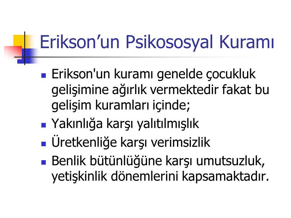 Erikson'un Psikososyal Kuramı