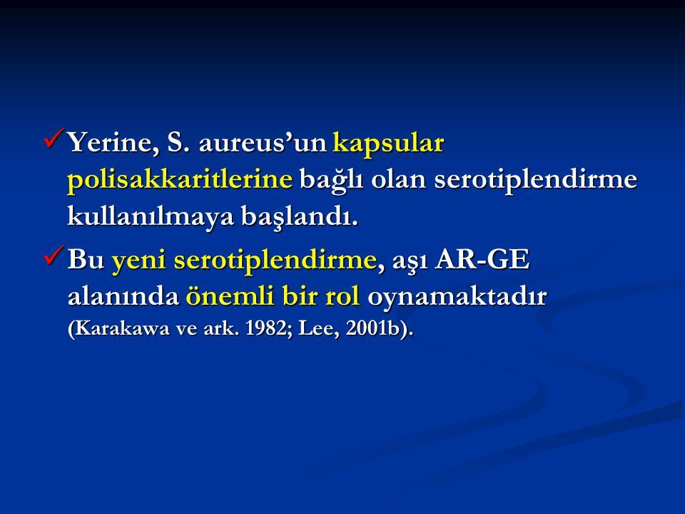 Yerine, S. aureus'un kapsular polisakkaritlerine bağlı olan serotiplendirme kullanılmaya başlandı.