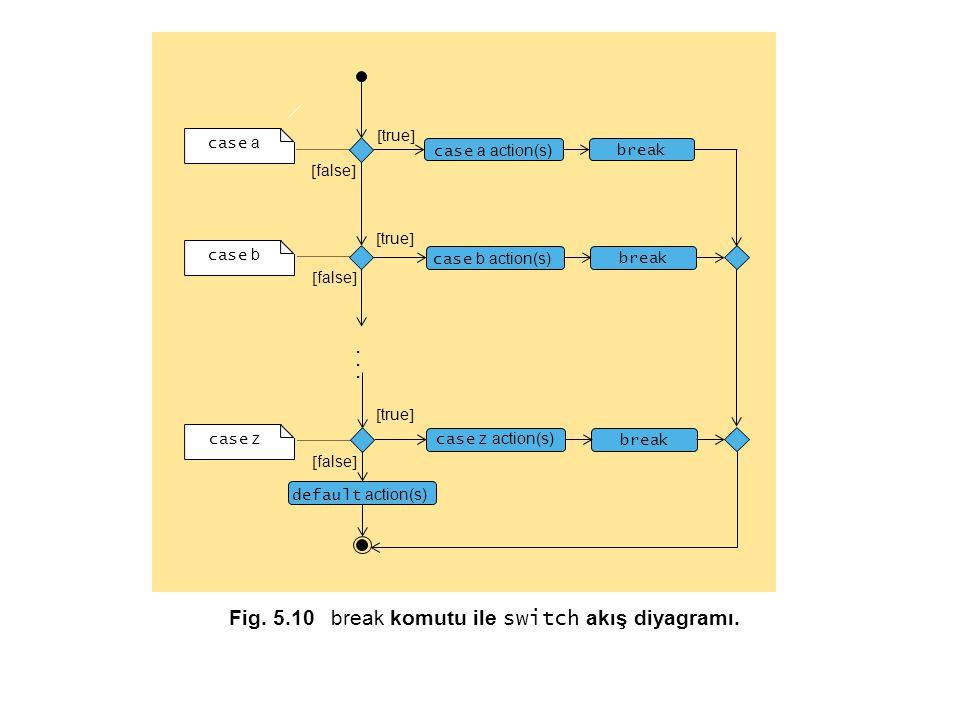 Fig. 5.10 break komutu ile switch akış diyagramı.