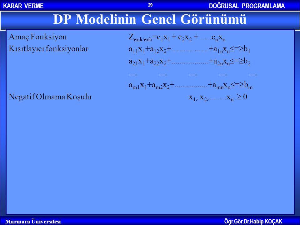 DP Modelinin Genel Görünümü