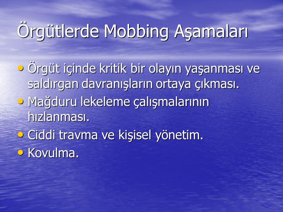 Örgütlerde Mobbing Aşamaları