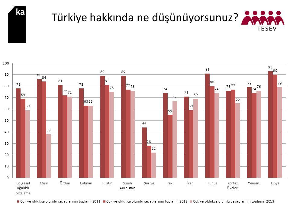 Türkiye hakkında ne düşünüyorsunuz