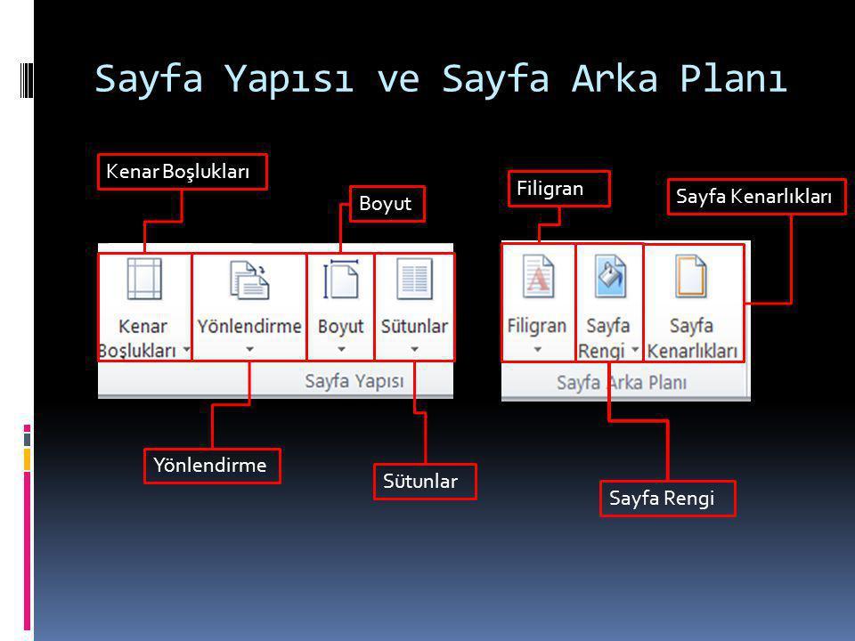 Sayfa Yapısı ve Sayfa Arka Planı