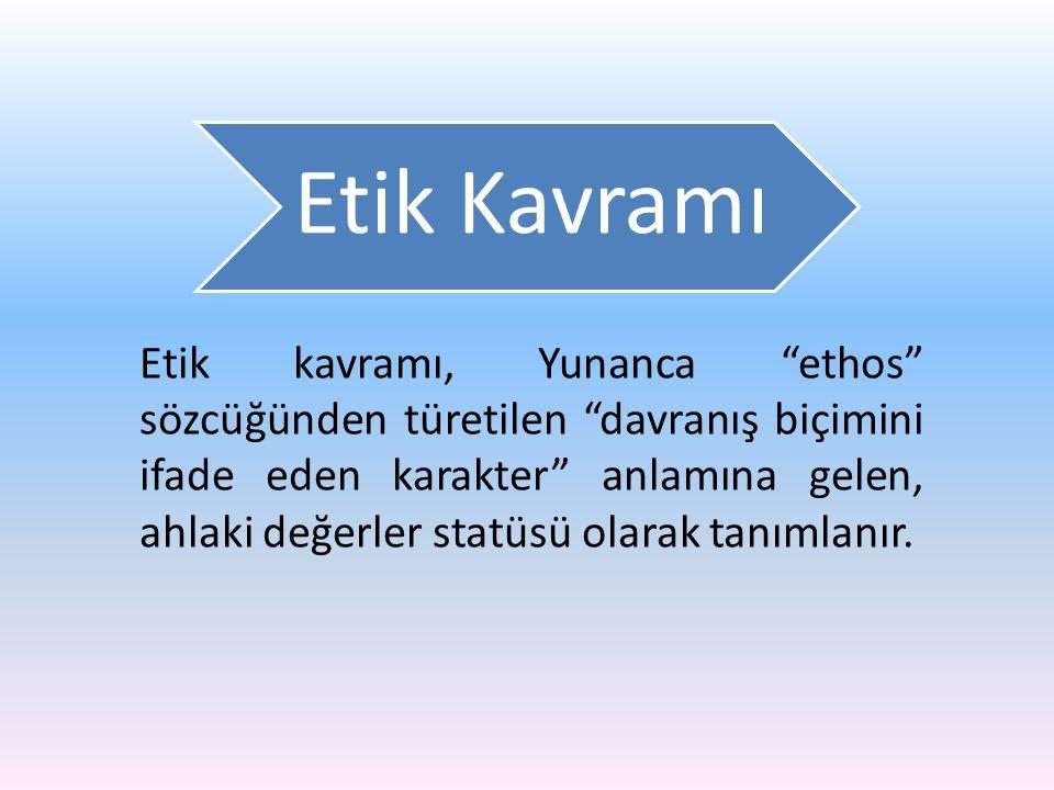 Etik Kavramı