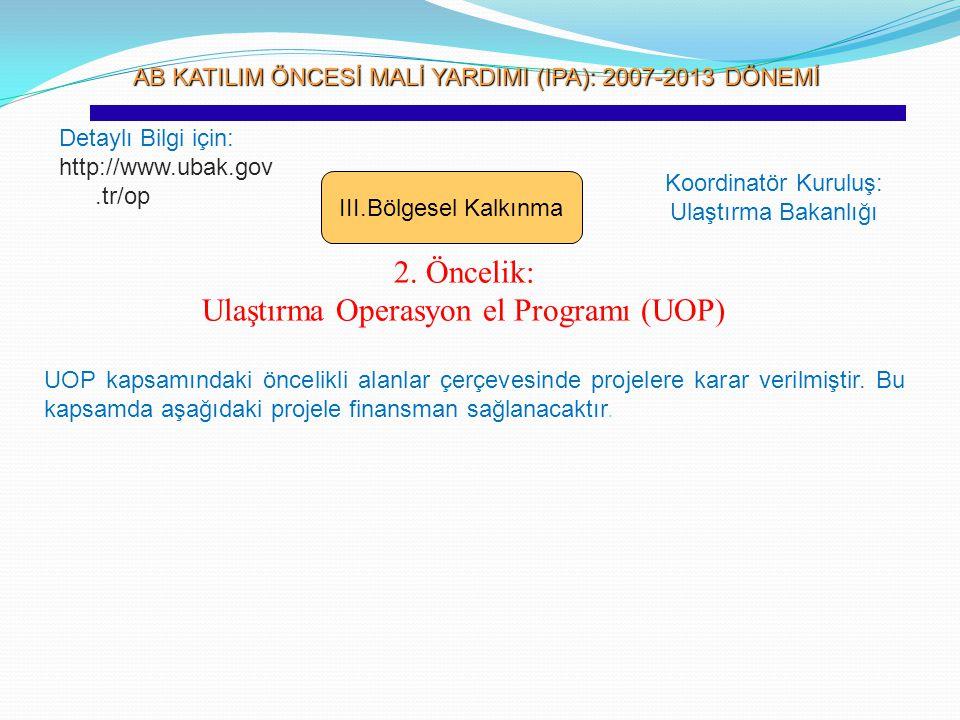 Ulaştırma Operasyon el Programı (UOP)