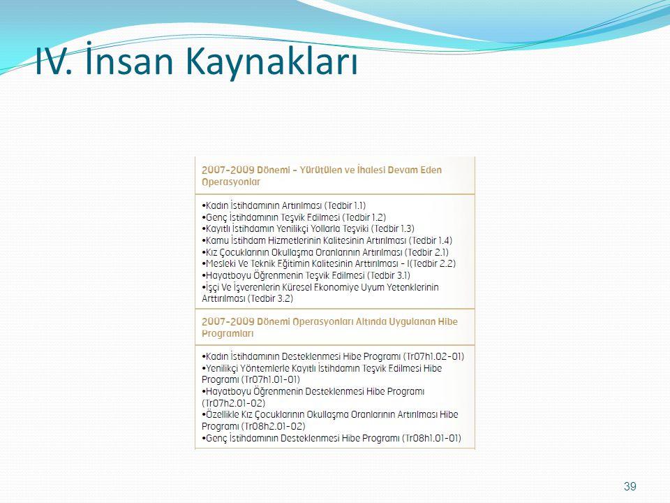IV. İnsan Kaynakları