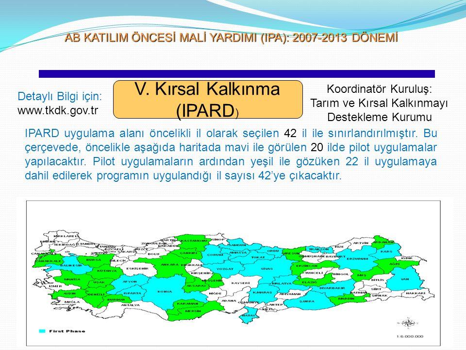 V. Kırsal Kalkınma (IPARD)