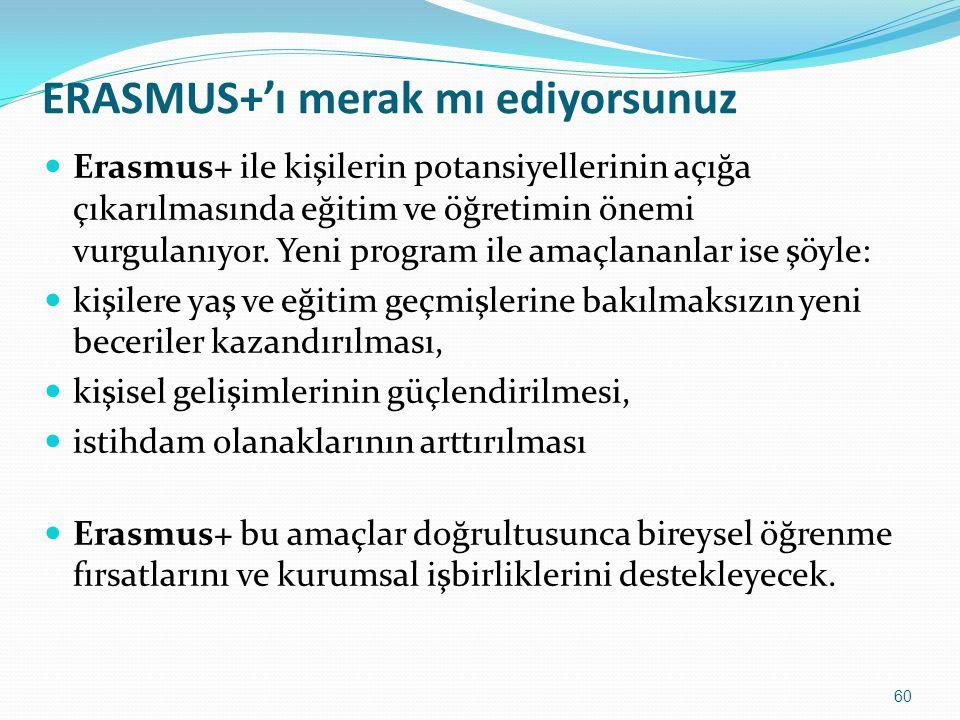 ERASMUS+'ı merak mı ediyorsunuz