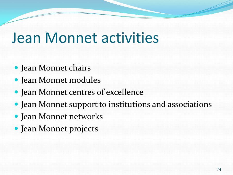 Jean Monnet activities