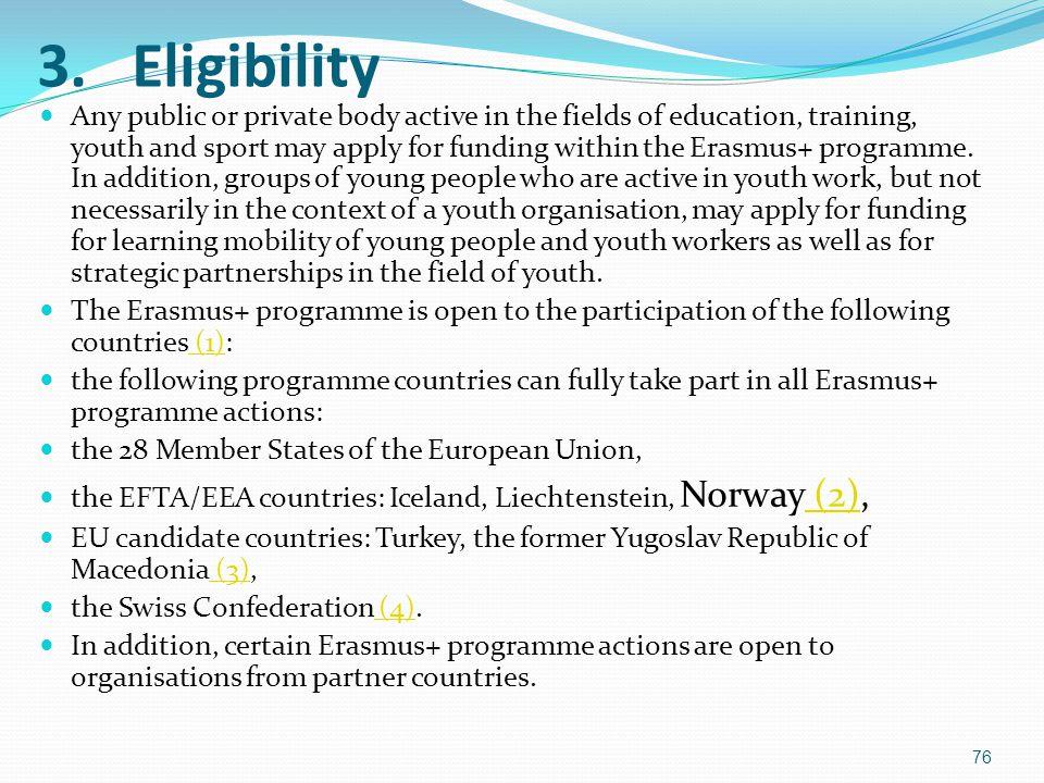 3. Eligibility
