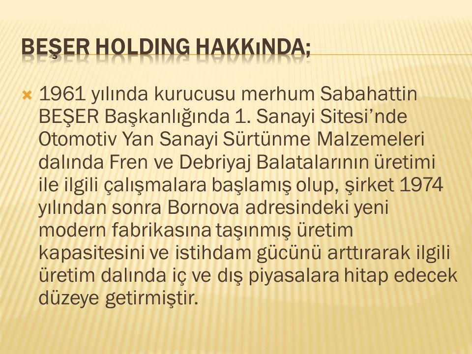 Beşer Holding Hakkında;