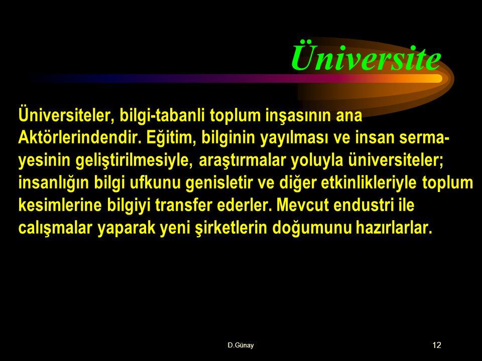 Üniversite Üniversiteler, bilgi-tabanli toplum inşasının ana