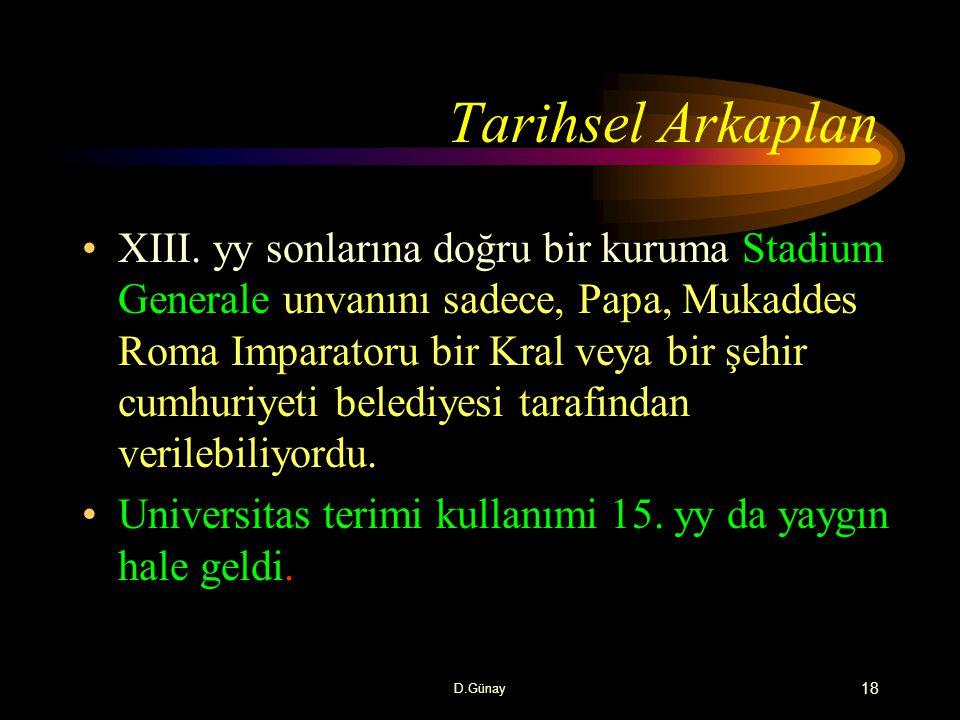 Tarihsel Arkaplan