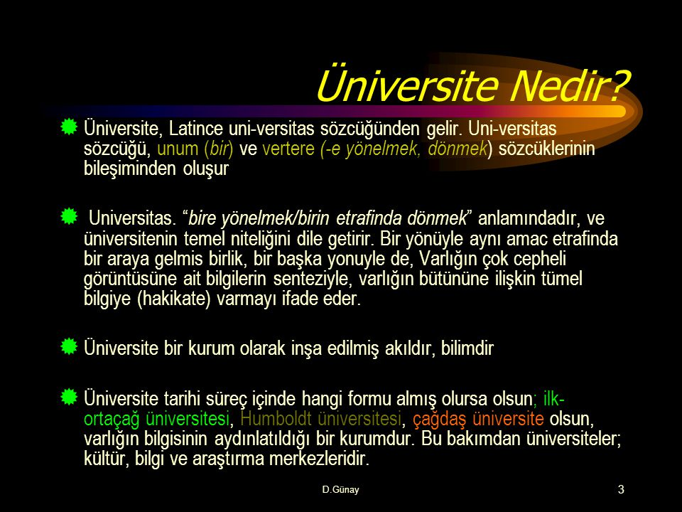 Üniversite Nedir