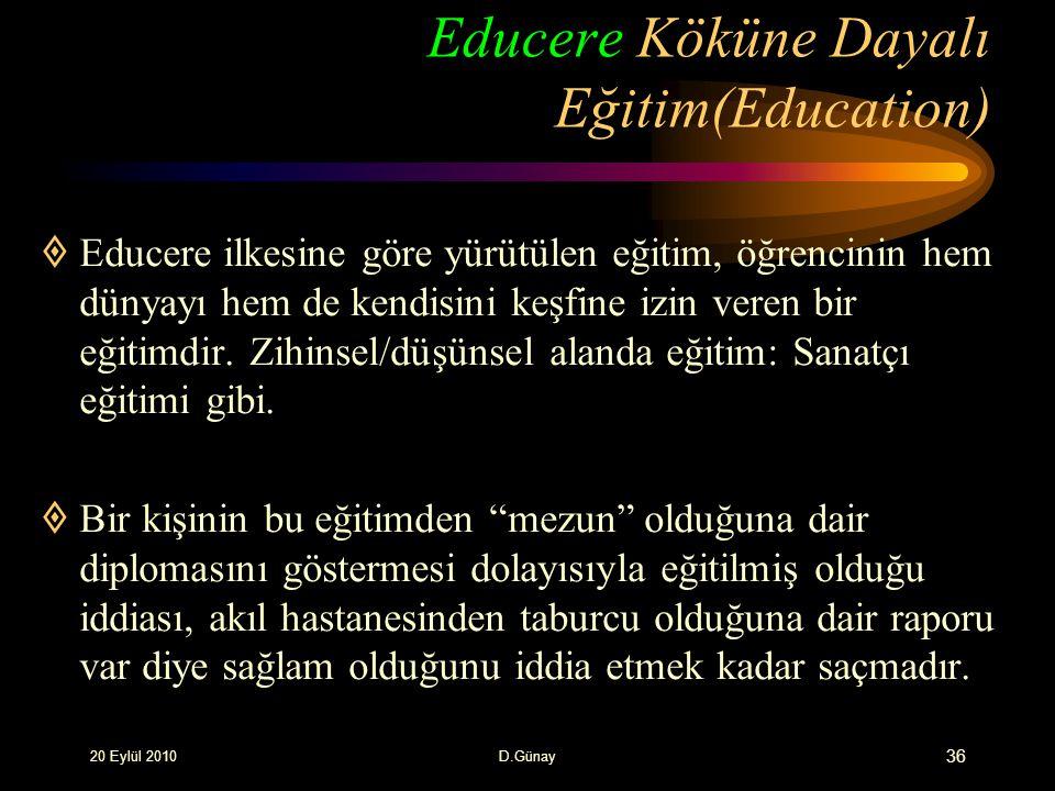 Educere Köküne Dayalı Eğitim(Education)