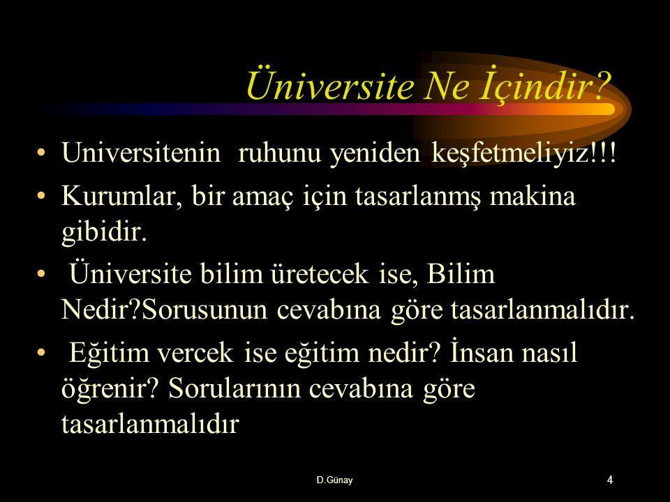 Üniversite Ne İçindir Universitenin ruhunu yeniden keşfetmeliyiz!!!