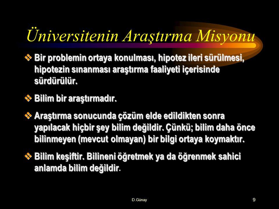 Üniversitenin Araştırma Misyonu