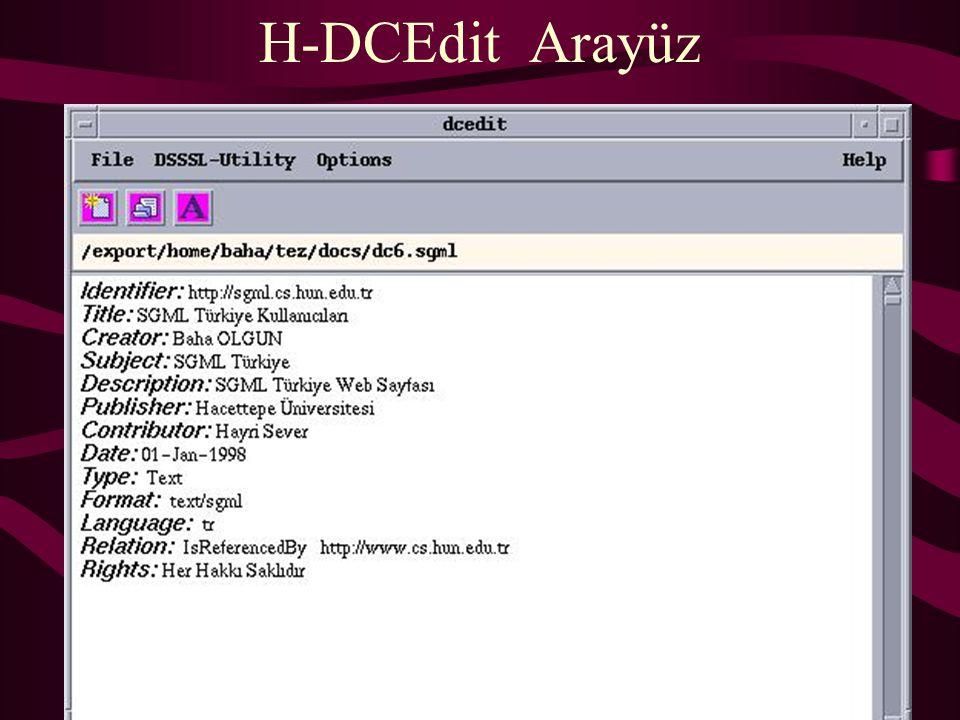 H-DCEdit Arayüz