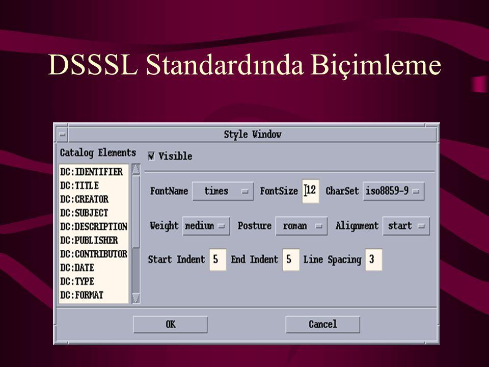 DSSSL Standardında Biçimleme