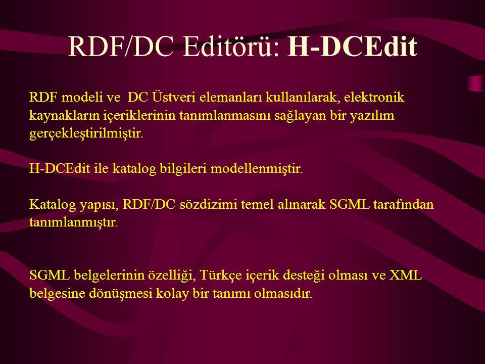 RDF/DC Editörü: H-DCEdit
