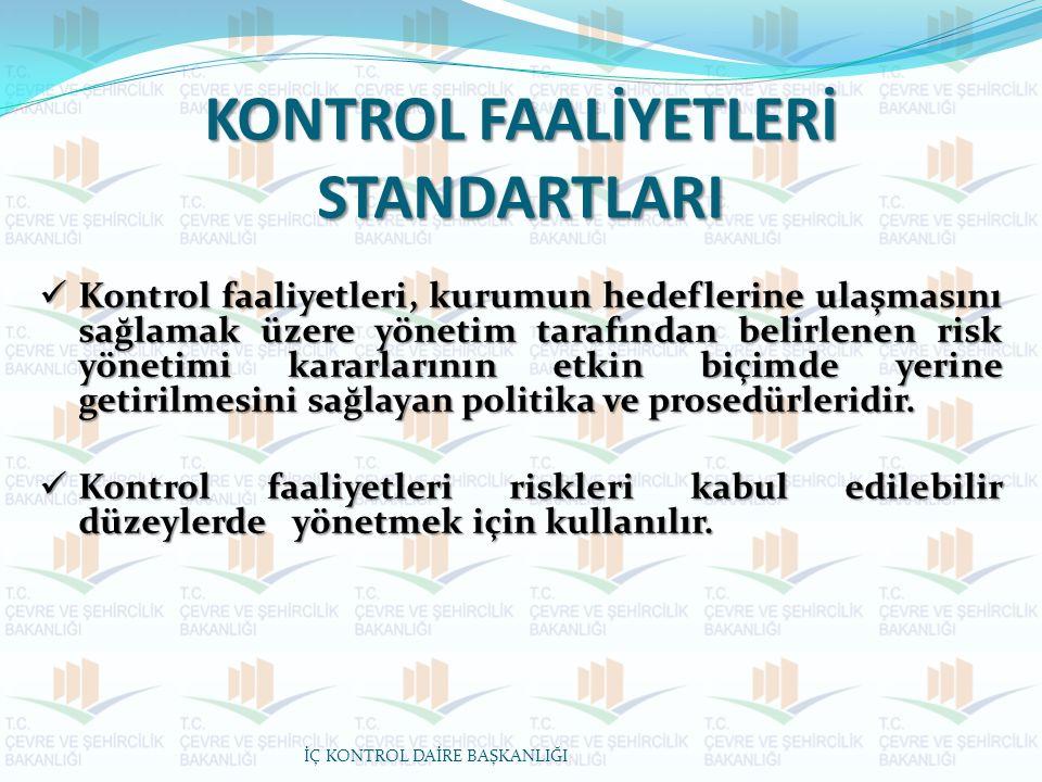 KONTROL FAALİYETLERİ STANDARTLARI