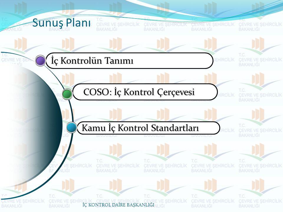 Sunuş Planı İç Kontrolün Tanımı COSO: İç Kontrol Çerçevesi
