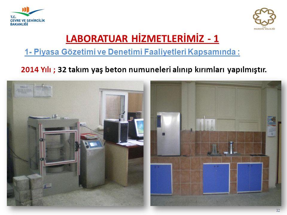 LABORATUAR HİZMETLERİMİZ - 1