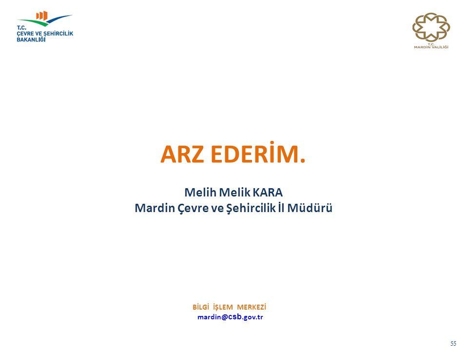 Mardin Çevre ve Şehircilik İl Müdürü