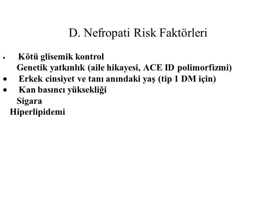 D. Nefropati Risk Faktörleri