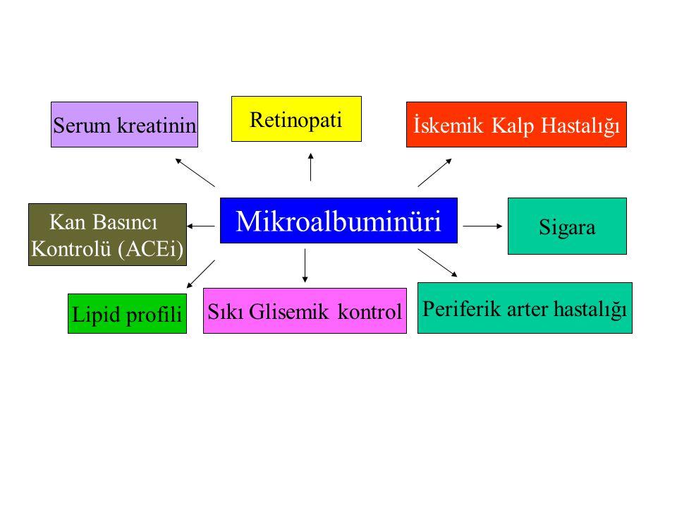 Mikroalbuminüri Retinopati Serum kreatinin İskemik Kalp Hastalığı