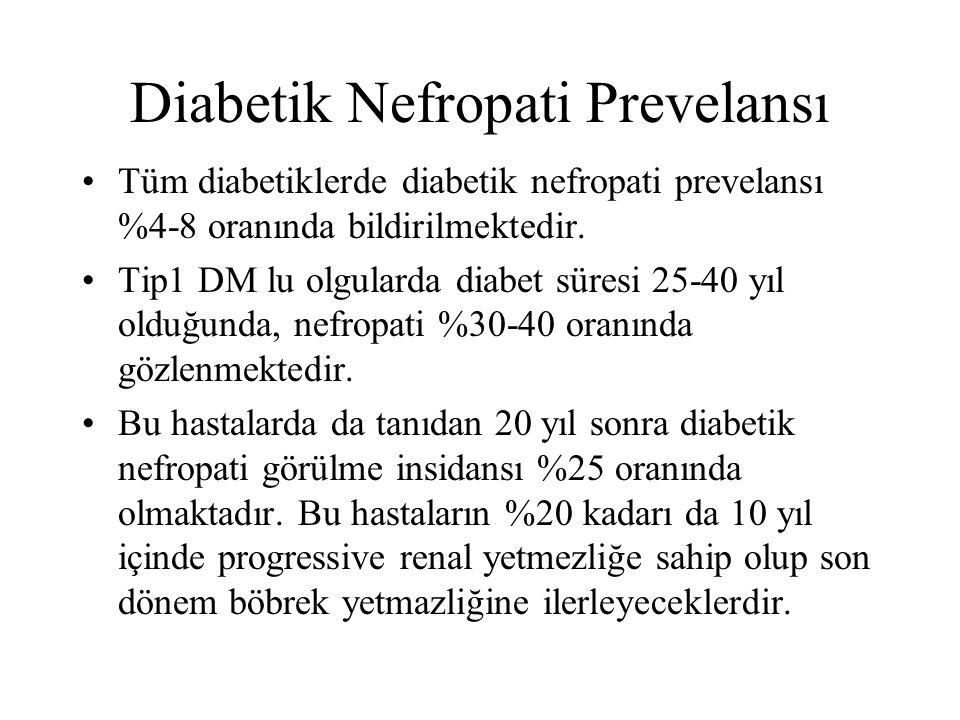 Diabetik Nefropati Prevelansı