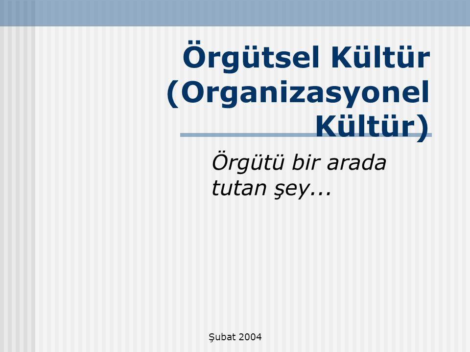 Örgütsel Kültür (Organizasyonel Kültür)