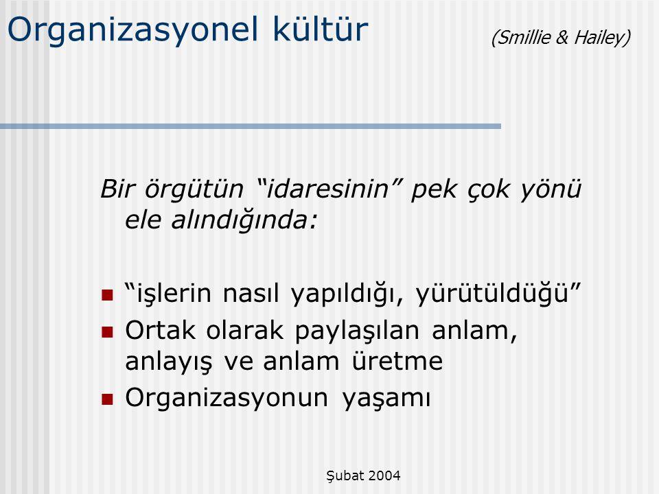 Organizasyonel kültür