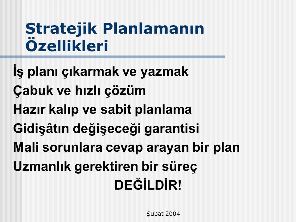 Stratejik Planlamanın Özellikleri