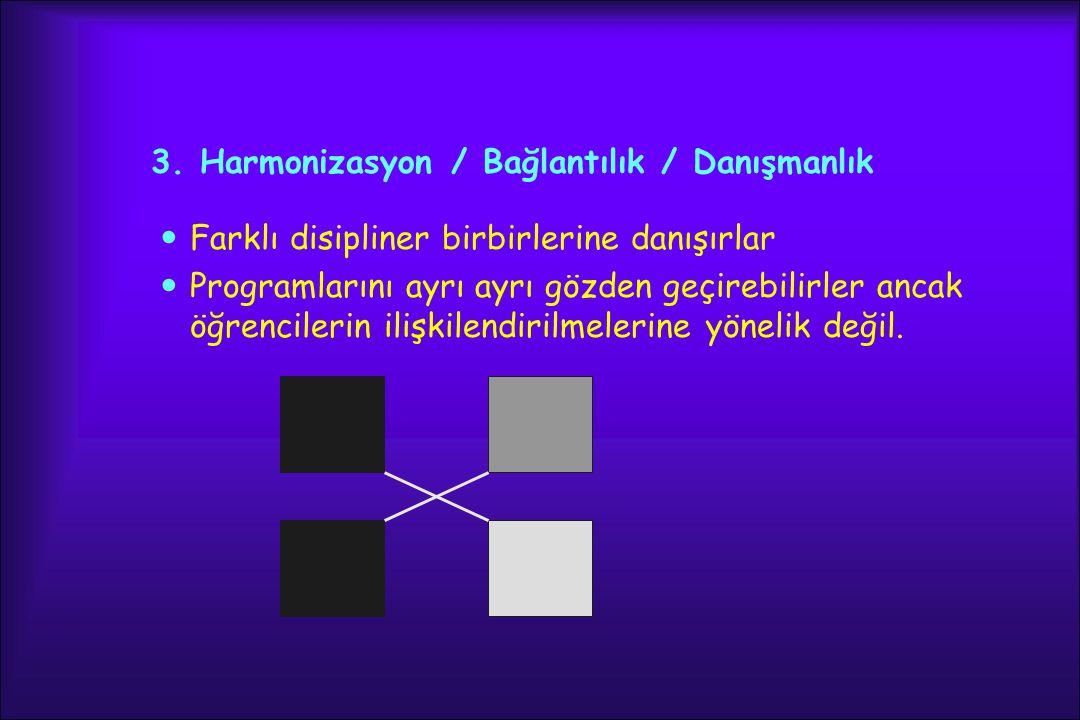 3. Harmonizasyon / Bağlantılık / Danışmanlık