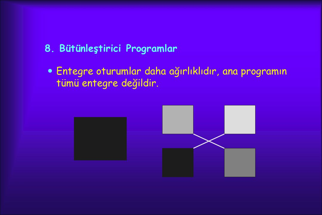 8. Bütünleştirici Programlar