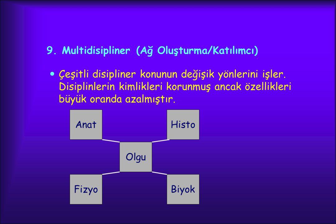 9. Multidisipliner (Ağ Oluşturma/Katılımcı)