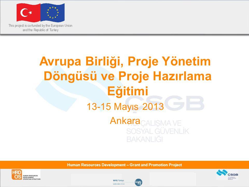 Avrupa Birliği, Proje Yönetim Döngüsü ve Proje Hazırlama Eğitimi