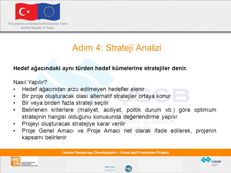 Adım 4: Strateji Analizi
