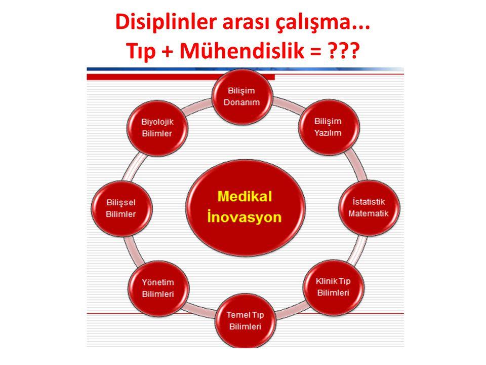 Disiplinler arası çalışma... Tıp + Mühendislik =