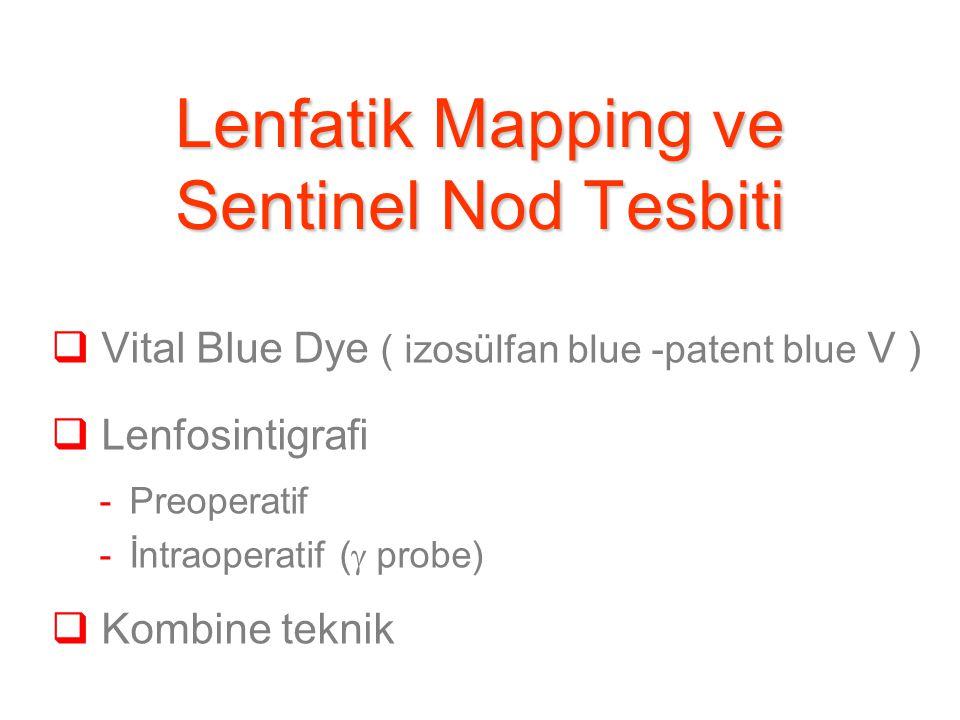 Lenfatik Mapping ve Sentinel Nod Tesbiti