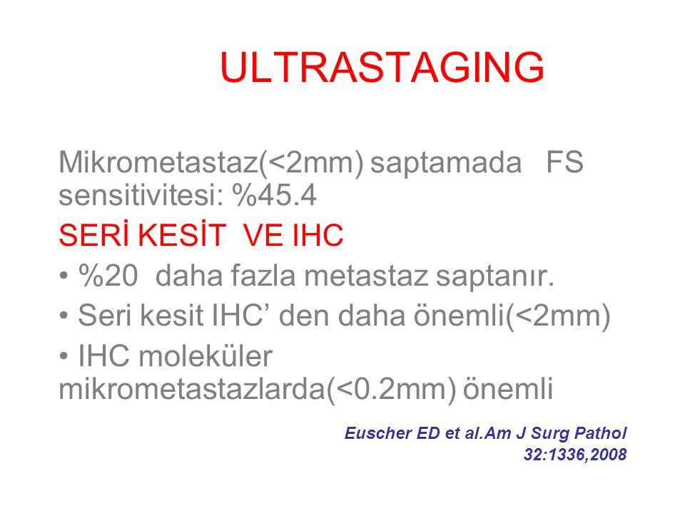 ULTRASTAGING Mikrometastaz(<2mm) saptamada FS sensitivitesi: %45.4