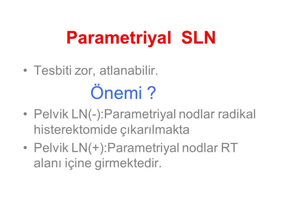Parametriyal SLN Tesbiti zor, atlanabilir. Önemi