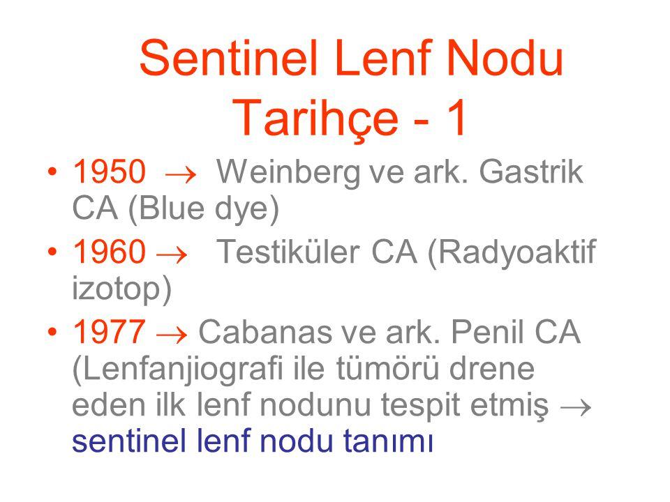 Sentinel Lenf Nodu Tarihçe - 1