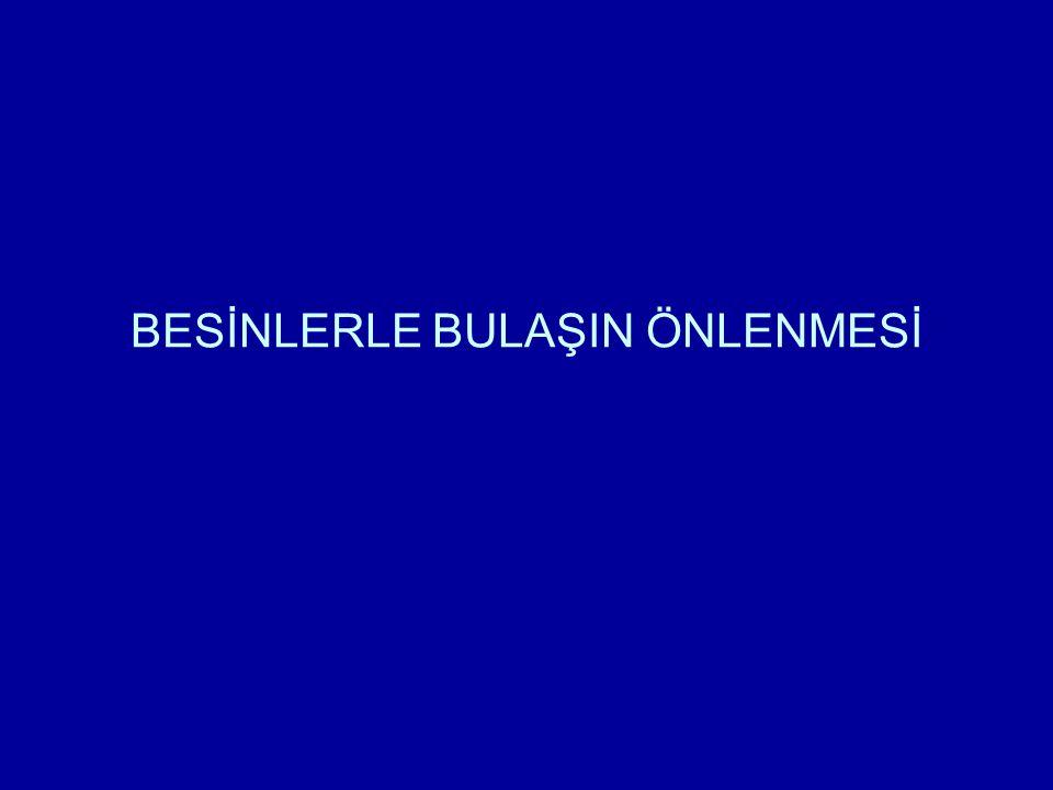 BESİNLERLE BULAŞIN ÖNLENMESİ
