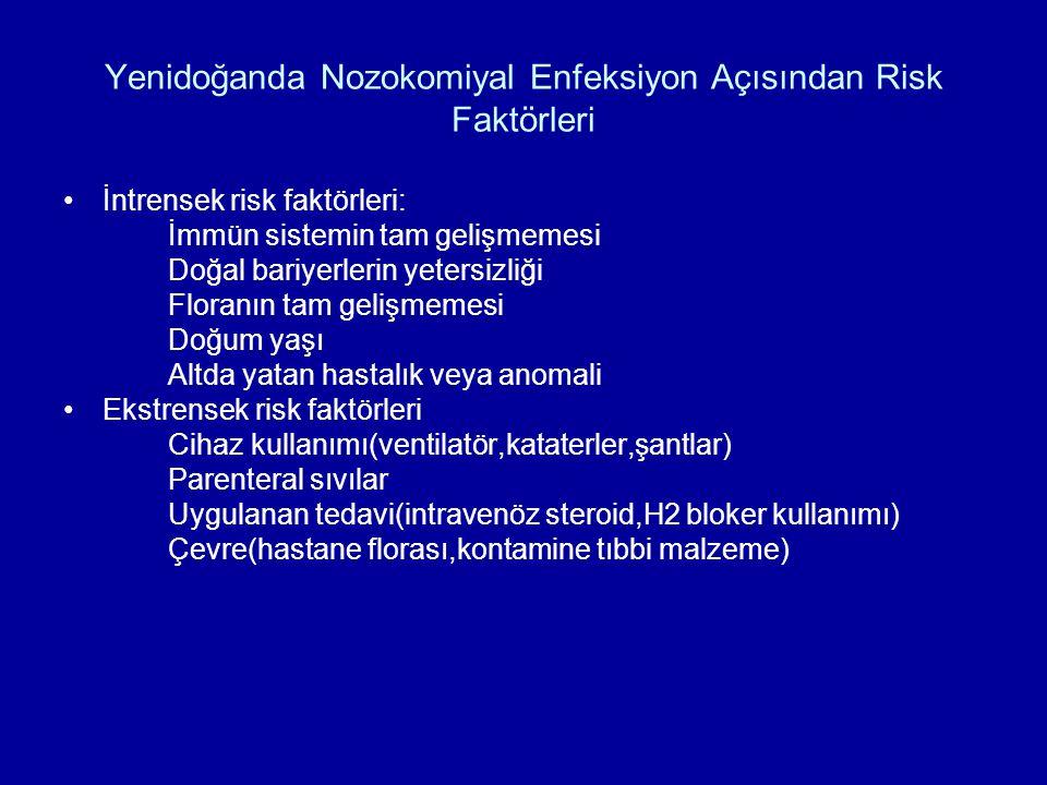 Yenidoğanda Nozokomiyal Enfeksiyon Açısından Risk Faktörleri