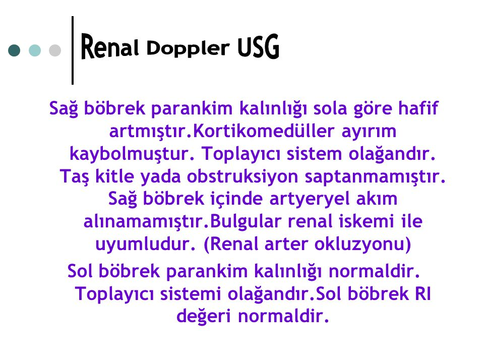 Renal Doppler USG