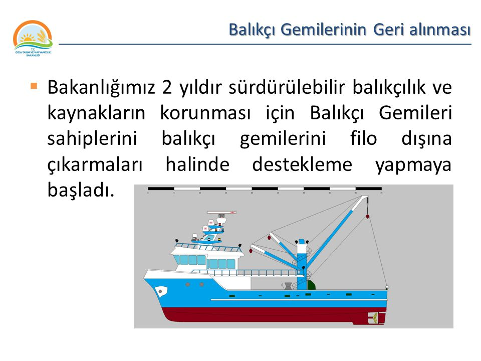 Balıkçı Gemilerinin Geri alınması