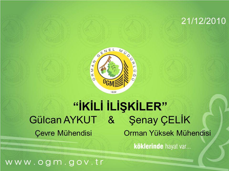 İKİLİ İLİŞKİLER Gülcan AYKUT & Şenay ÇELİK